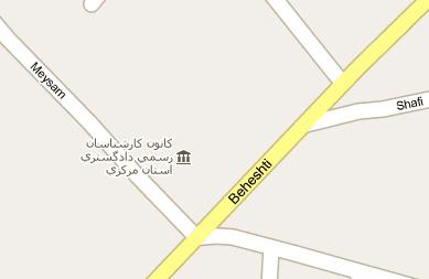 نقشه دفتر کانون